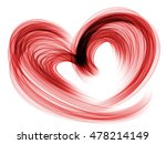 red heart lovely grunge... | Shutterstock . vector #478214149