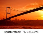 Bosphorus Bridge In Istanbul A...