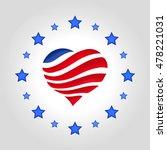 usa flag vector illustration.... | Shutterstock .eps vector #478221031