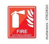 fire extinguisher sign. vector | Shutterstock .eps vector #478228261