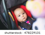 baby girl buckled into her car... | Shutterstock . vector #478229131