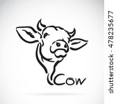 vector of a cow logo on white... | Shutterstock .eps vector #478235677