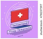 switzerland flag    flag icon... | Shutterstock .eps vector #478237597