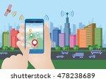 smart city and smart phone... | Shutterstock .eps vector #478238689