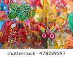 lanterns hanging on a stand in...   Shutterstock . vector #478239397