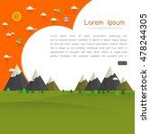 natural landscape template... | Shutterstock .eps vector #478244305