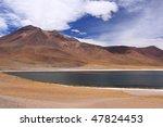 miscanti lagoon in san pedro de ... | Shutterstock . vector #47824453
