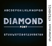 diamond alphabet font.... | Shutterstock .eps vector #478248421