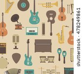 set of abstract classical music ... | Shutterstock .eps vector #478249861
