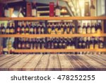 wood table and wine liquor...   Shutterstock . vector #478252255