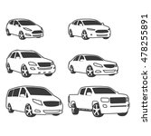car vehicle icons set. linear... | Shutterstock .eps vector #478255891