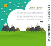 natural landscape template... | Shutterstock .eps vector #478257151