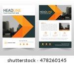 orange black vector annual... | Shutterstock .eps vector #478260145