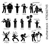 negative personalities... | Shutterstock . vector #478260745
