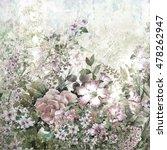 abstract flowers watercolor... | Shutterstock . vector #478262947