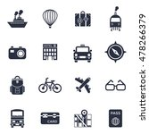 black and white travel icons... | Shutterstock .eps vector #478266379