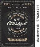 vintage flyer poster beer... | Shutterstock .eps vector #478266844