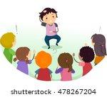 Stickman Illustration Of Kids...