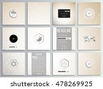 set of 12 creative cards ... | Shutterstock .eps vector #478269925