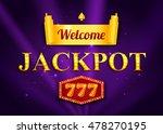 jackpot background for online... | Shutterstock .eps vector #478270195