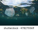 plastic ocean. environmental... | Shutterstock . vector #478270369