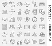 modern thin line icons set of... | Shutterstock .eps vector #478272205