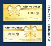 gift voucher or gift... | Shutterstock .eps vector #478274584