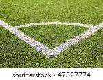 green grass and corner lines of ... | Shutterstock . vector #47827774