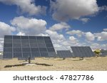 solar panels aligned and faced... | Shutterstock . vector #47827786