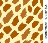 Giraffe Skin Texture. Vector...