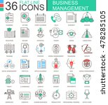 vector business management... | Shutterstock .eps vector #478285105