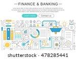 vector elegant thin line flat... | Shutterstock .eps vector #478285441
