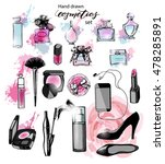 hand drawn collection of make... | Shutterstock .eps vector #478285891