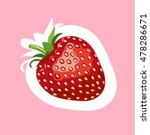 strawberry stickers. vector... | Shutterstock .eps vector #478286671