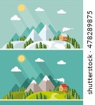 summer and winter landscape.... | Shutterstock .eps vector #478289875