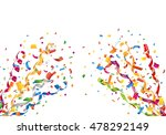 exploding party confetti and... | Shutterstock .eps vector #478292149