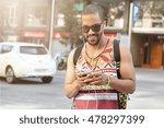 portrait of attractive african... | Shutterstock . vector #478297399