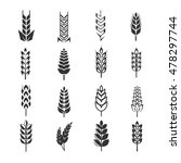 wheat ears vector icons.... | Shutterstock .eps vector #478297744
