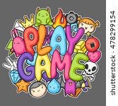 game kawaii print. cute gaming... | Shutterstock .eps vector #478299154