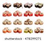 sushi rolls set  maki ... | Shutterstock . vector #478299271