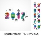 set of color numbers with new... | Shutterstock .eps vector #478299565
