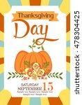 thanksgiving day | Shutterstock .eps vector #478304425