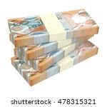 Barbadian Dollar Bills Isolate...