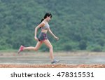 woman running at outdoors | Shutterstock . vector #478315531