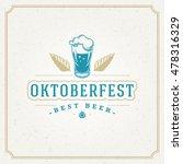 oktoberfest greeting card or... | Shutterstock .eps vector #478316329