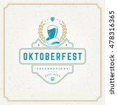 oktoberfest greeting card or... | Shutterstock .eps vector #478316365