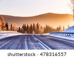 the road in the winter... | Shutterstock . vector #478316557