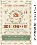 oktoberfest beer festival... | Shutterstock .eps vector #478317175