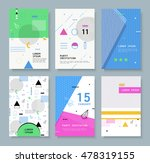 set invitation with geometric... | Shutterstock .eps vector #478319155
