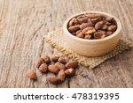 Salt Roasted Almond In Wooden...